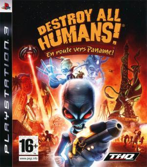 Jaquette destroy all humans en route vers paname playstation 3 ps3 cover avant g