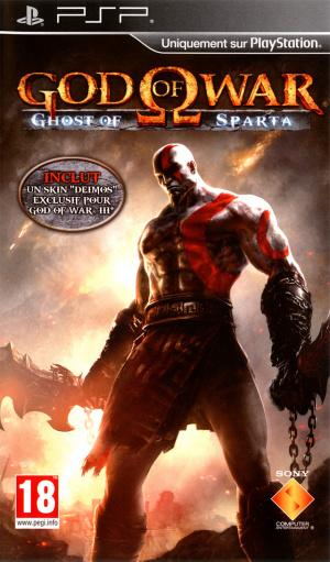 Jaquette god of war ghost of sparta playstation portable psp cover avant g