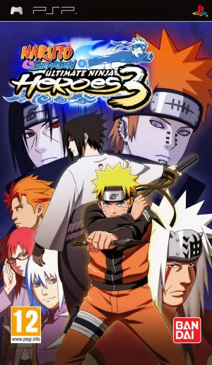 Jaquette naruto ultimate ninja heroes 3 playstation portable psp cover avant g